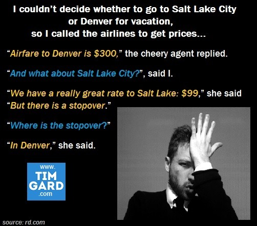 Tim Gard Meme: Salt Lake or Denver