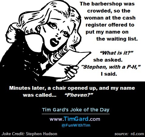 Tim's Joke of the Day: Barbershop
