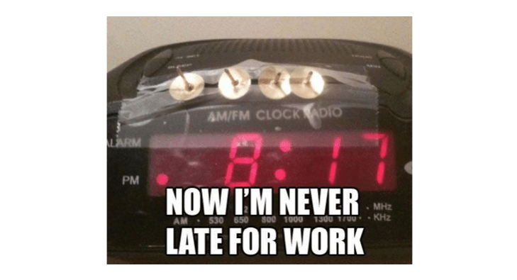 Funny Late For Work Meme : Work meme now i m never late for