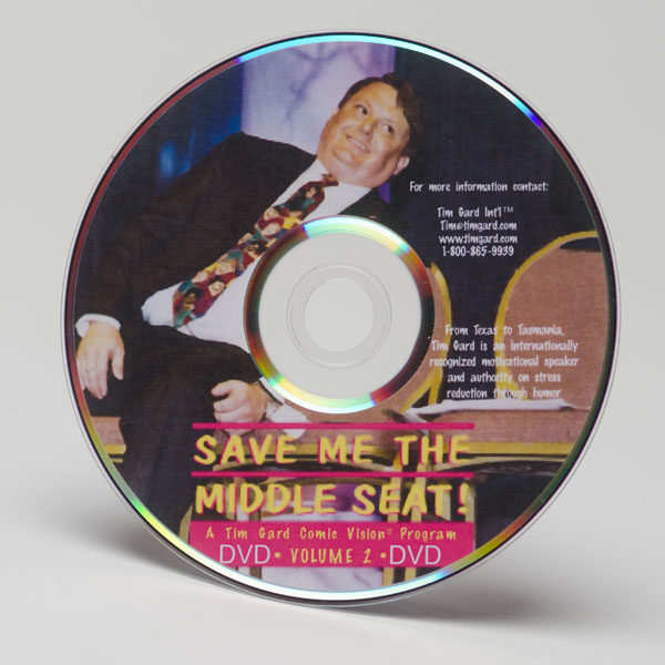 Tim Gard Shop - Save Me The Middle Seat - DVD