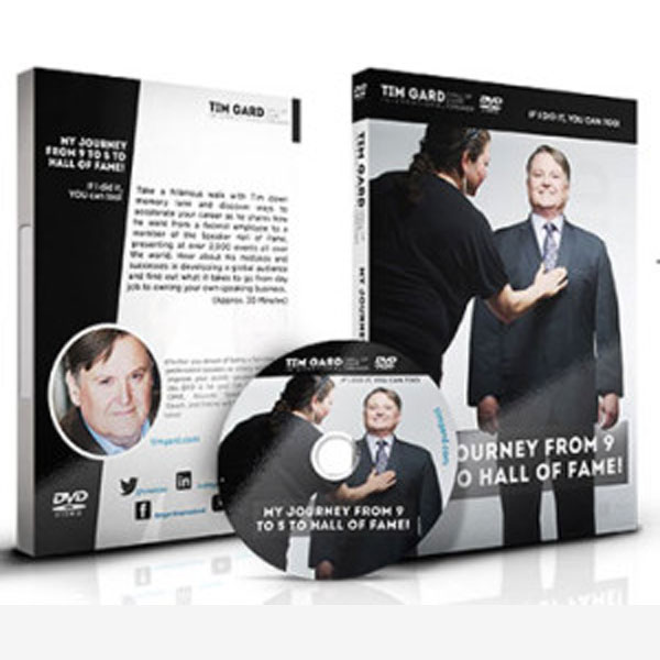 Tim Gard Shop My Journey From 9 to 5 to Hall of Fame DVD