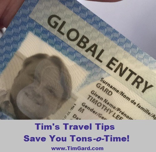 Tim Gard Travel Tips - Global Entry Card