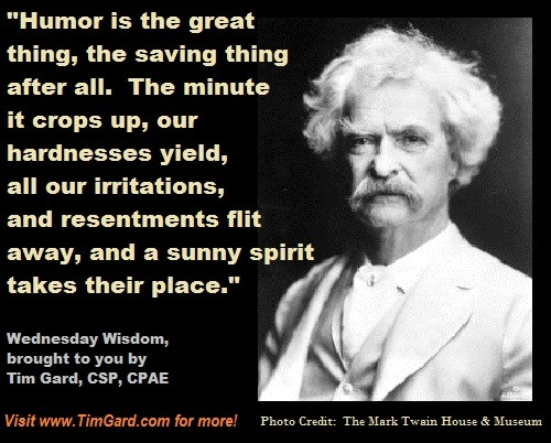 Tim Gard Wednesday Wisdom - Mark Twain