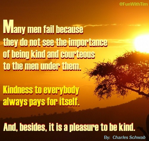 Tim Gard Meme - Kindness Pays For Itself