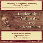 Tim Gard Meme - Leadership vs Authority