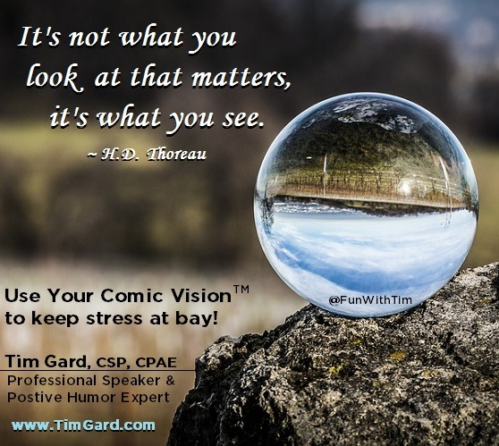 Tim Gard Meme - Comic Vision Keeps Stress at Bay